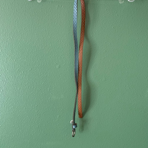 Target Accessories - Blue and brown genuine leather belt